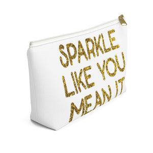 Makeup Bag Sparkle Like You Mean It Small Left Side