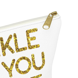 Makeup Bag Sparkle Like You Mean It Small Close Up