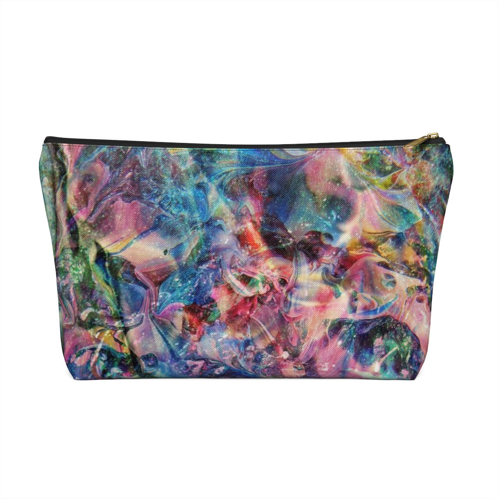 Makeup Bag Multicolored Abstract Art Large Front