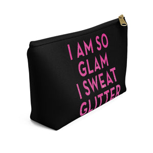 Makeup Bag I Am So Glam I Sweat Glitter Small Left Side
