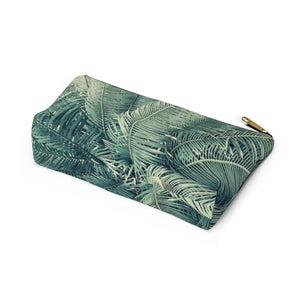 Makeup Bag Palm Tree Small Bottom