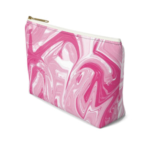 Makeup Bag Pink Marble Small Right Side