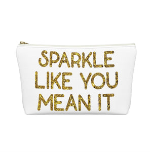 Makeup Bag Sparkle Like You Mean It Small back