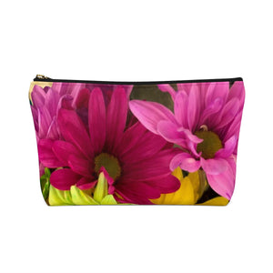 Makeup Bag Colorful Daisies Small Back