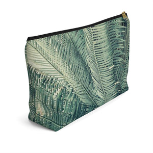 Makeup Bag Palm Tree Large Left Side