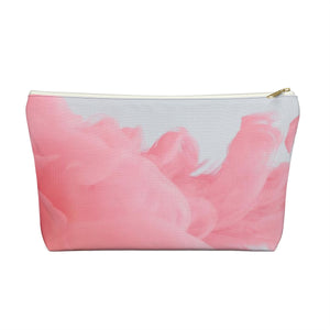 Makeup Bag Pink Fluffy Clouds Large Front