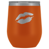 Wine Tumbler Lips in Orange