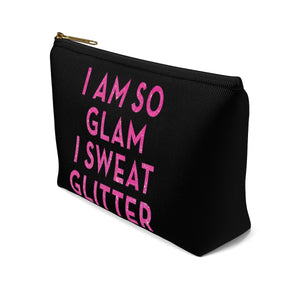 Makeup Bag I Am So Glam I Sweat Glitter Small Right Side