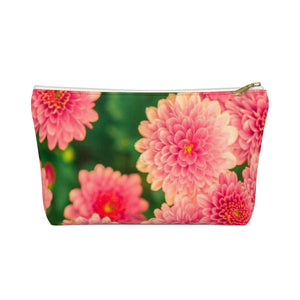 Makeup Bag Orange Flowers Small Front