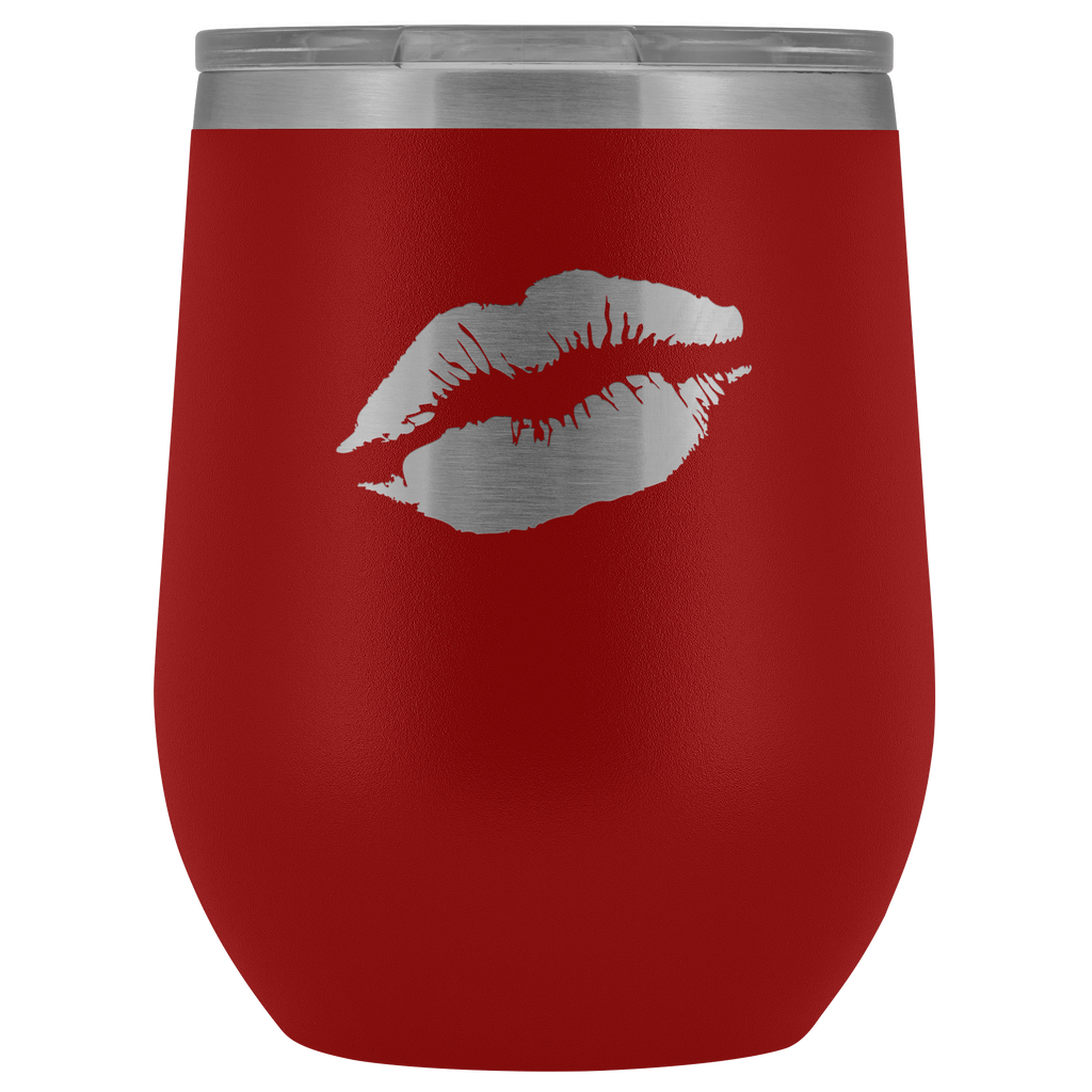 Wine Tumbler Lips in Red