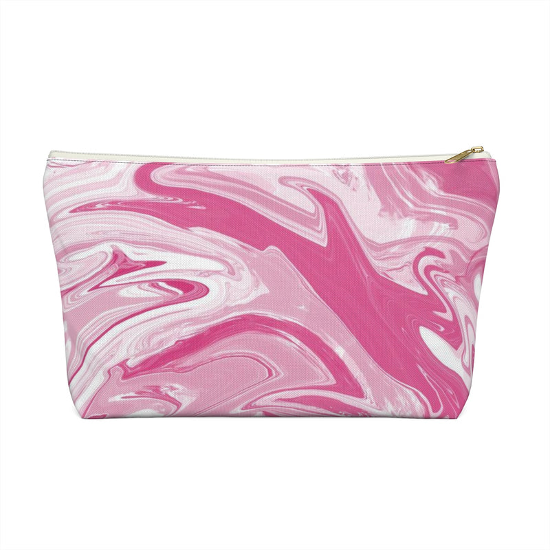 Makeup Bag Pink Marble Large Front