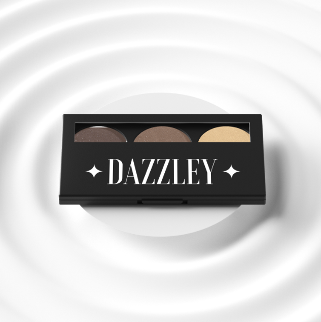 Dazzley Brown Eyeshadow Trio Palette