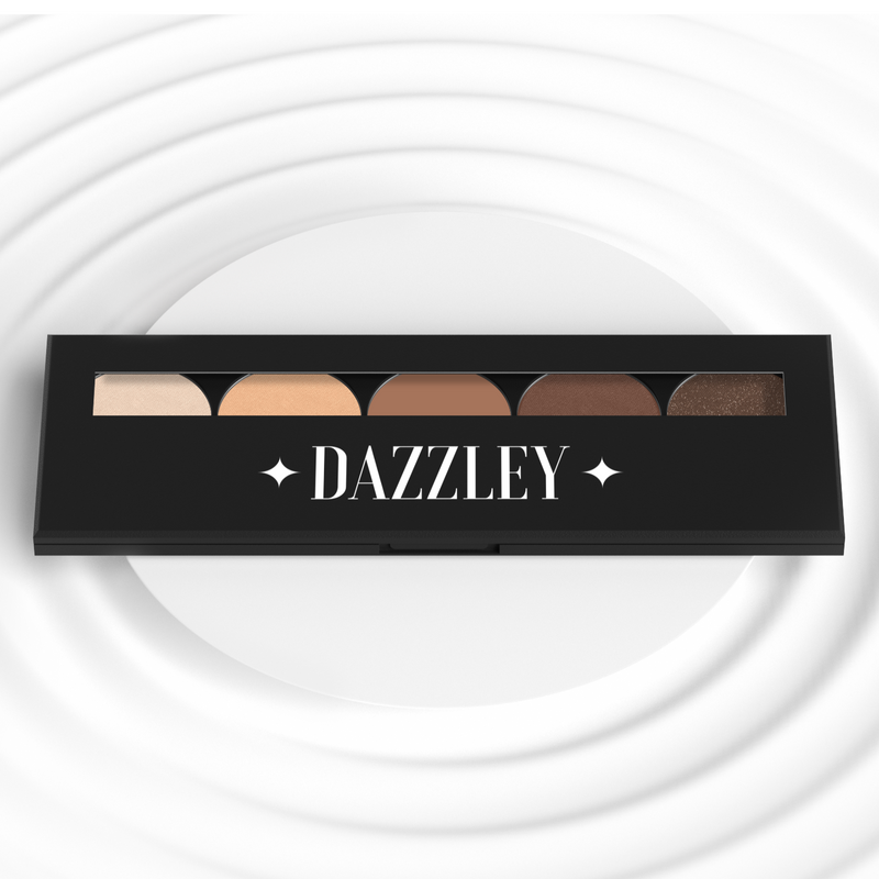 Dazzley Brown Eyeshadow Palette with Brush
