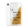 Gold iPhone Case Make the World a Glitterier Place