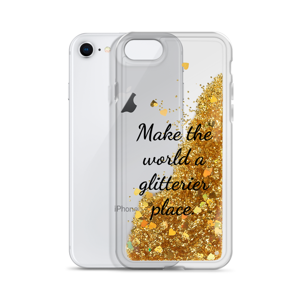 Gold Glitter iPhone Case Make the World a Glitterier Place