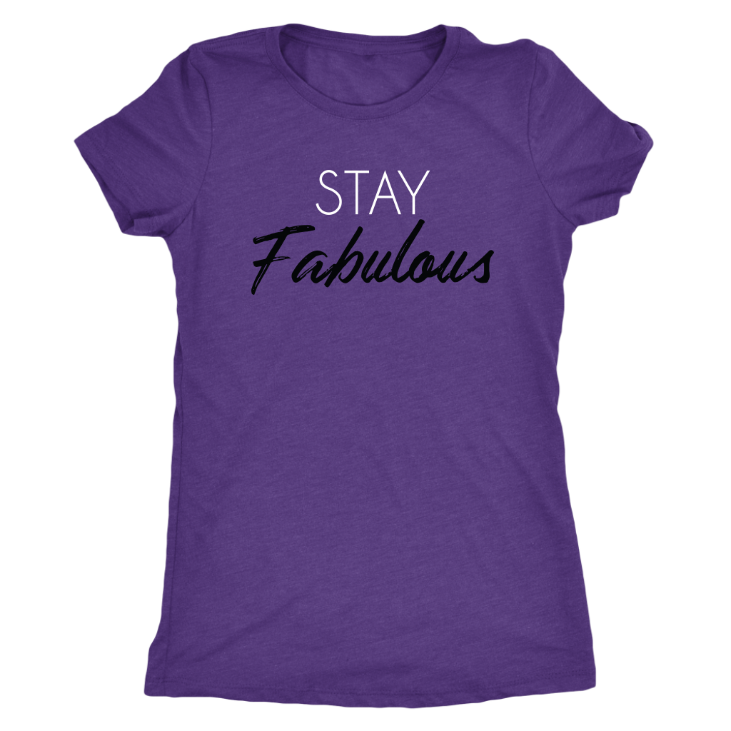 Tee Stay Fabulous in Purple Rush