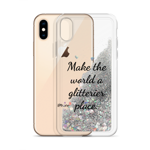 Silver Glitter Phone Case Make the World a Glitterier Place