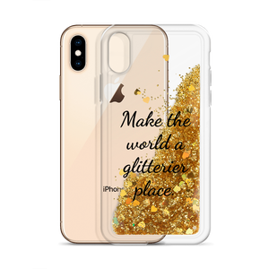 Gold Glitter Phone Case Make the World a Glitterier Place