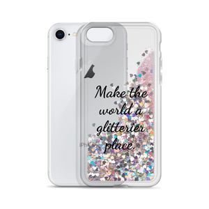 Pink Liquid Glitter Phone Case Make the World a Glitterier Place