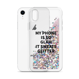 Glitter Pink Phone Case My Phone Is So Glam It Sweats Glitter