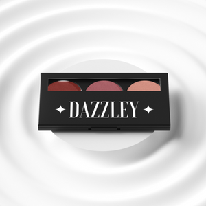 Dazzley Rose Gold Eyeshadow Trio Palette
