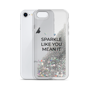 Silver Liquid Glitter Phone Case Sparkle Like You Mean It