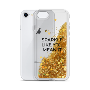 Gold Liquid Glitter Phone Case Sparkle Like You Mean It