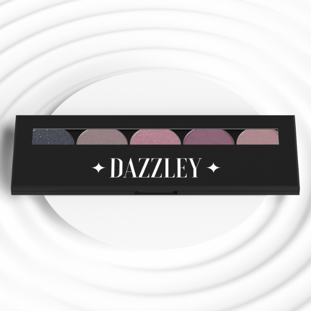 Dazzley Violet Eyeshadow Palette with Brush