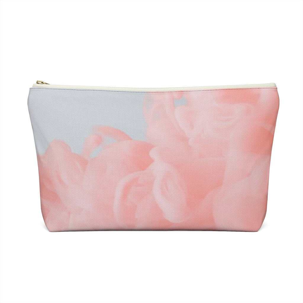 Makeup Bag Pink Fluffy Clouds Large Back