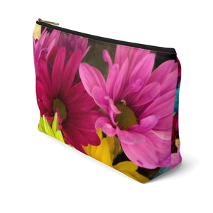 Makeup Bag Colorful Daisies Large Right Side