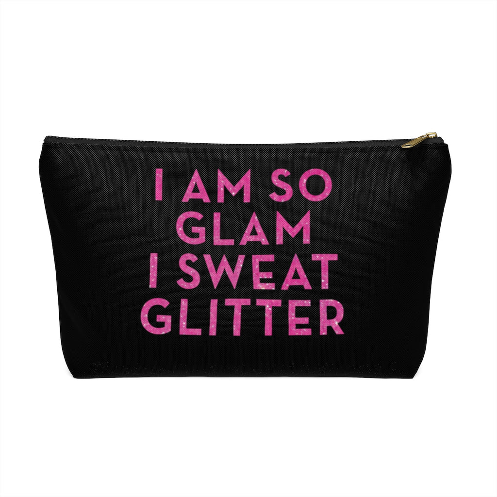 Makeup Bag I Am So Glam I Sweat Glitter Large Front