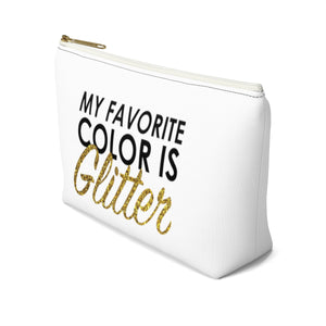 Makeup Bag My Favorite Color is Glitter Small Right Side