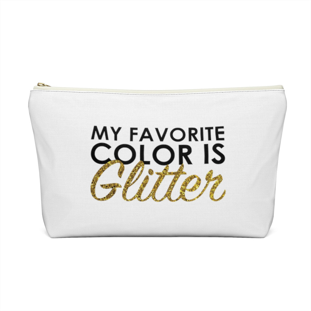 Makeup Bag My Favorite Color is Glitter Large Back