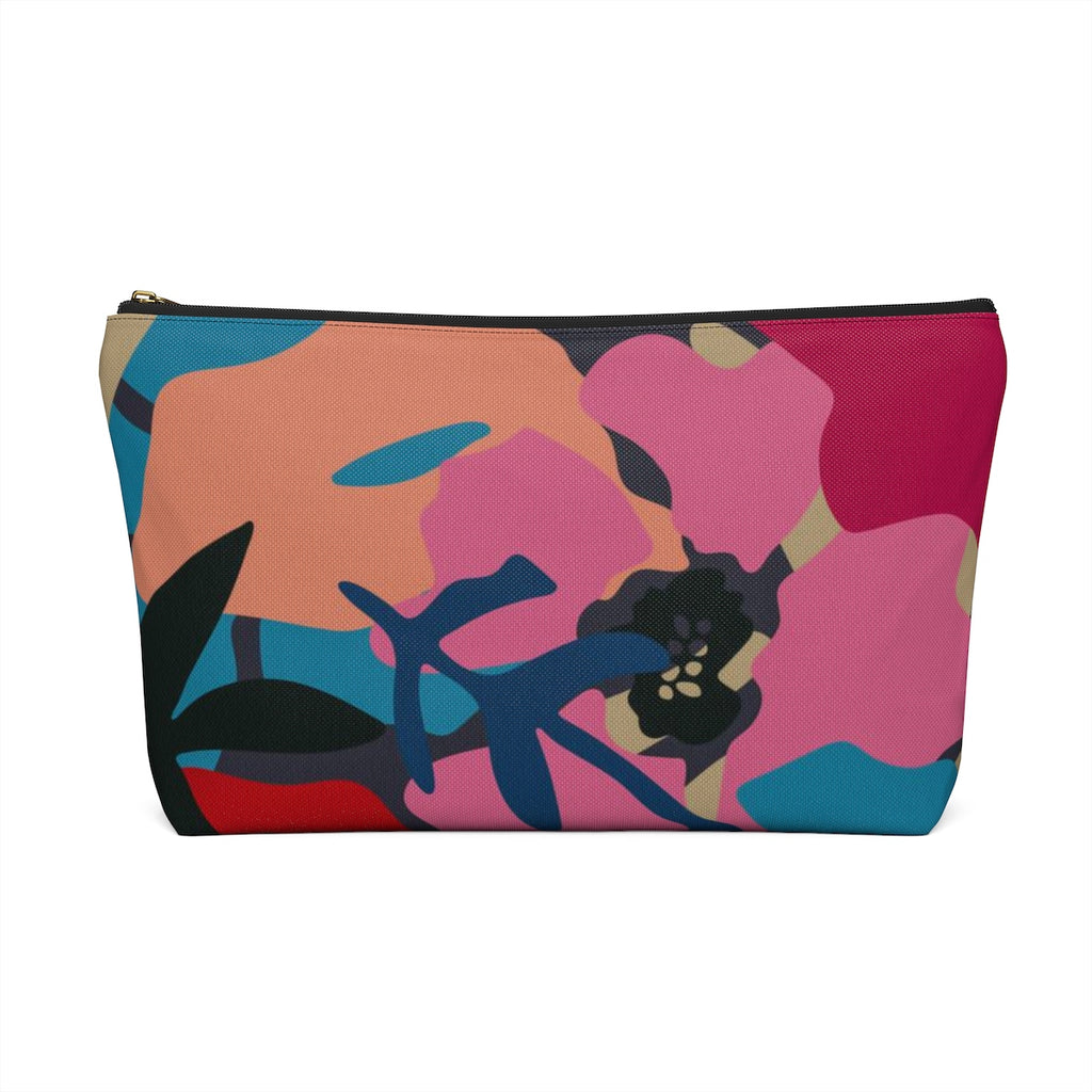 Makeup Bag Modern Floral Large Back