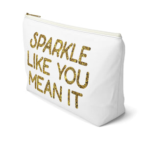 Makeup Bag Sparkle Like You Mean It Large Right Side
