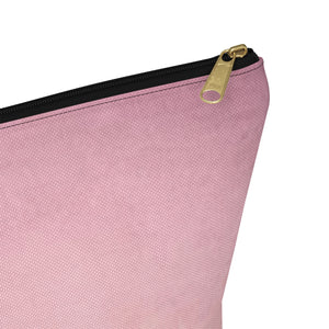 Makeup Bag Pink Palm Large Close Up