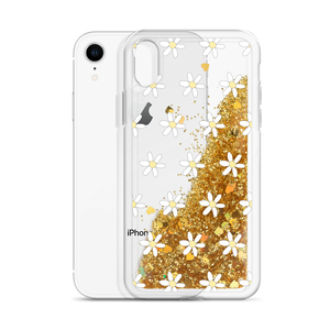 Gold Glitter Phone Case with Daisies