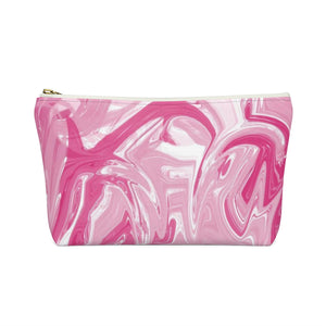 Makeup Bag Pink Marble Small Back