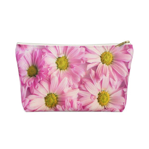 Makeup Bag Pink Daisies Small Front
