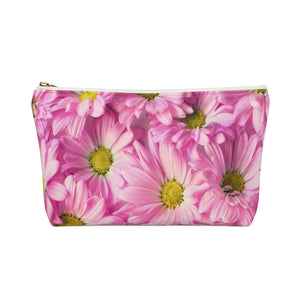 Makeup Bag Pink Daisies Small Back