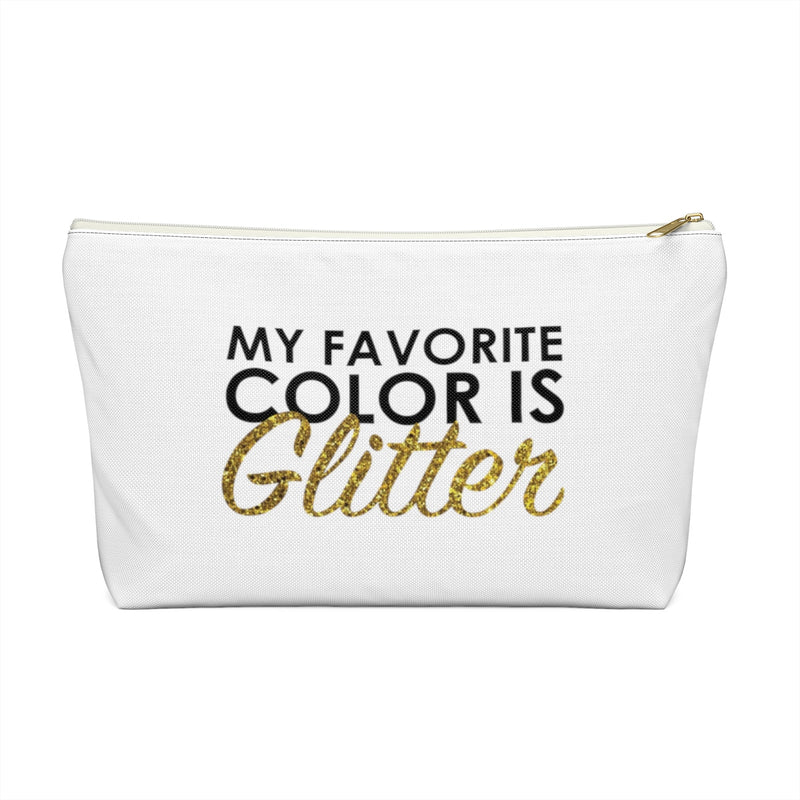 Makeup Bag My Favorite Color is Glitter Large Front