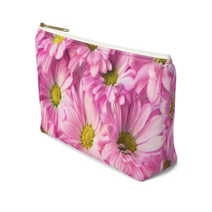 Makeup Bag Pink Daisies Small Right Side
