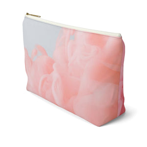 Makeup Bag Pink Fluffy Clouds Large Right Side