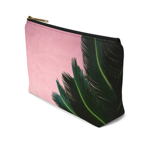 Makeup Bag Pink Palm Small Right Side