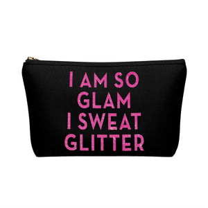 Makeup Bag I Am So Glam I Sweat Glitter Small Back