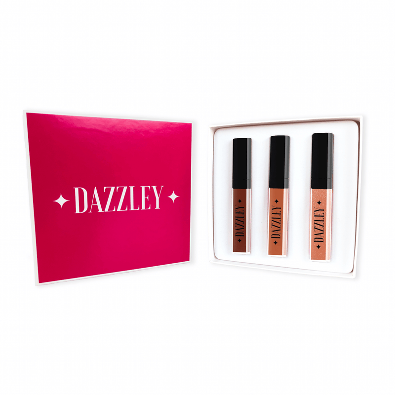 Dazzley Fabulous Fawn Liquid Lipstick Trio Gift Box