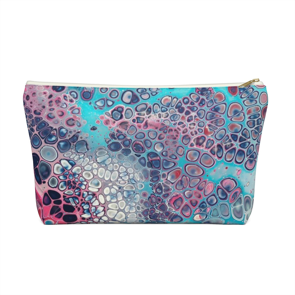 Makeup Bag Modern Art Large Front