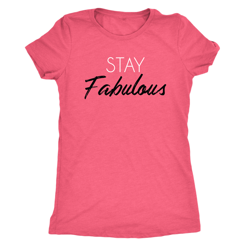 Tee Stay Fabulous in Vintage Light Pink