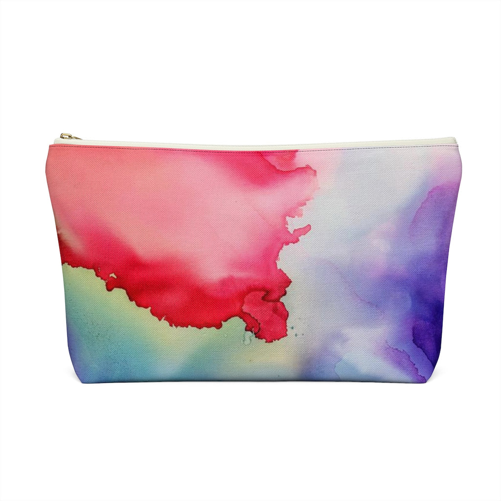 Makeup Bag Rainbow Watercolor Large Back