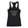 Racerback Tank Pour Some Glitter On Me in Black